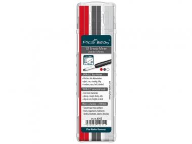PICA 6045 ołówek stolarski automatyczny - wkłady uniwersalne 12 sztuk