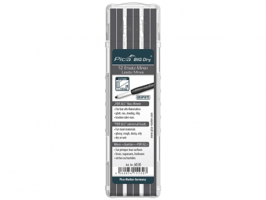 PICA ołówek stolarski automatyczny - wkłady uniwersalne 12szt. grafit