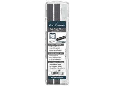 PICA 6040 ołówek stolarski automatyczny - wkłady uniwersalne grafit + białe 12 sztuk