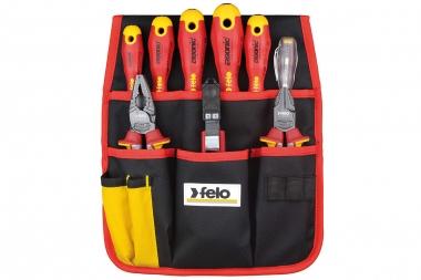 FELO 41399504 zestaw wkrętaki kombinerki nóż VDE 9 sztuk