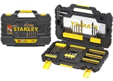 STANLEY STA88544 zestaw bity wiertła 76 sztuk