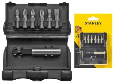 STANLEY STA60480 zestaw bity uchwyt magnetyczny 7 sztuk