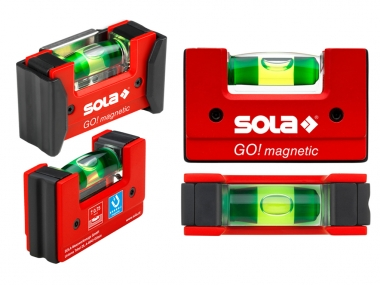 SOLA Go! Magnetic Clip poziomica kieszonkowa magnes 75mm