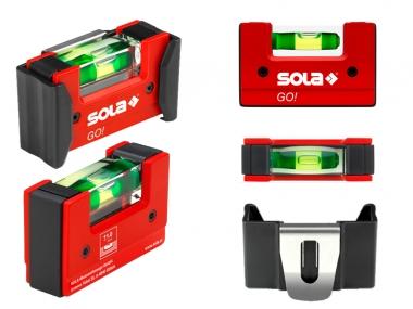 SOLA Go! CLIP poziomica kieszonkowa 75mm