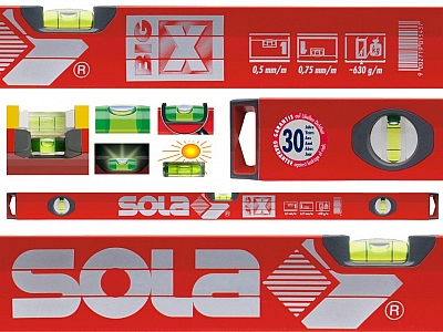 SOLA BIG X3  poziomica aluminium 3 libele 150cm