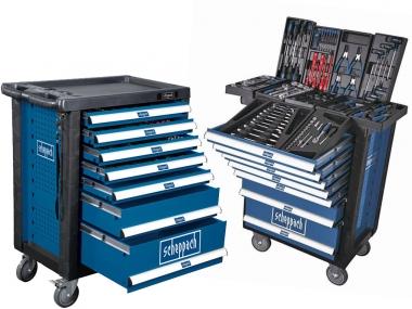 SCHEPPACH TW1000 szafka narzędziowa wózek 263 el. 7szuflad