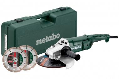 METABO WE 2200-230 szlifierka kątowa 230mm 2200W walizka 2 tarcze