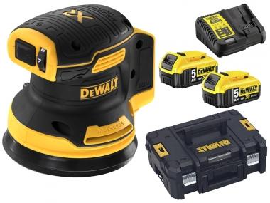DeWALT DCW210P2 szlifierka mimośrodowa 125mm 18V 2x5,0Ah