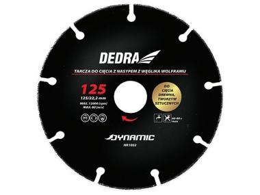 DEDRA HR1002 tarcza drewna plastiku 125mm