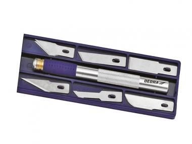 DEDRA M9035 nóż skalpel ostrza 9mm 12szt zestaw