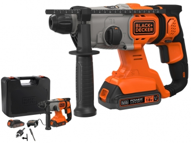 BLACK&DECKER BCD900E2K młotowiertarka akumulatorowa 18V 1,2J 2,5Ah
