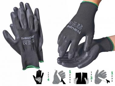 HAUPA 120300 rękawice robocze rozmiar 09 / L